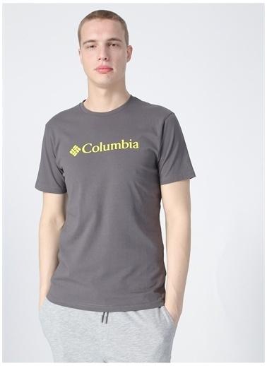 Columbia Columbia Bisiklet Yaka Siyah Erkek T-Shirt Siyah